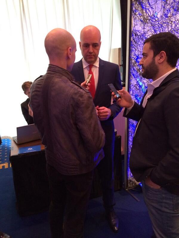 SIX News intervjuar Fredrik Reinfeldt vid Handelskammardagen. Foto: Anna Werner, Västsvenska Handelskammaren