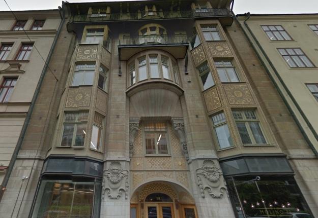 Industrivärdens huvudkontor på Storgatan 10 i Stockholm. Bild: Google Maps juni 2014