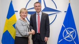NATO Secretary General Jens Stoltenberg meets with the Minister of Foreign Affairs of Sweden, Margot Wallstrom