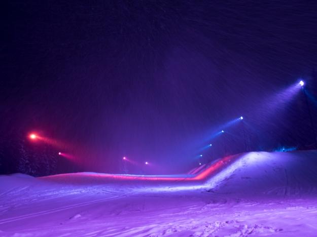 Åre Ambilight Snow Park. Källa: Skistar Licens: Creative Commons
