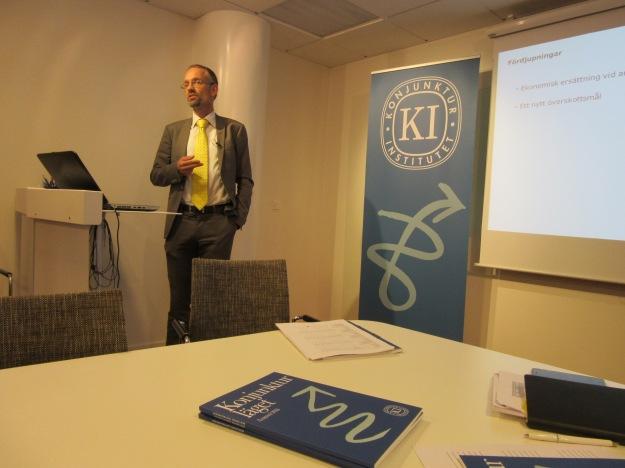 Konjunkturinstitutets prognoschef Jesper Hansson. Foto: SIX News
