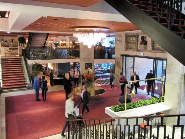 Lobbyn till Scandic Haymarket som invigdes i maj 2016